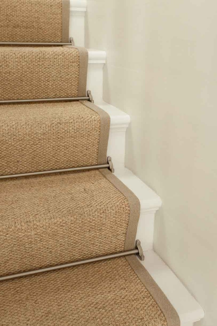 Tackle loose carpet with runner rods, available in a multitude of styles and finishes   Via JANGEORGe