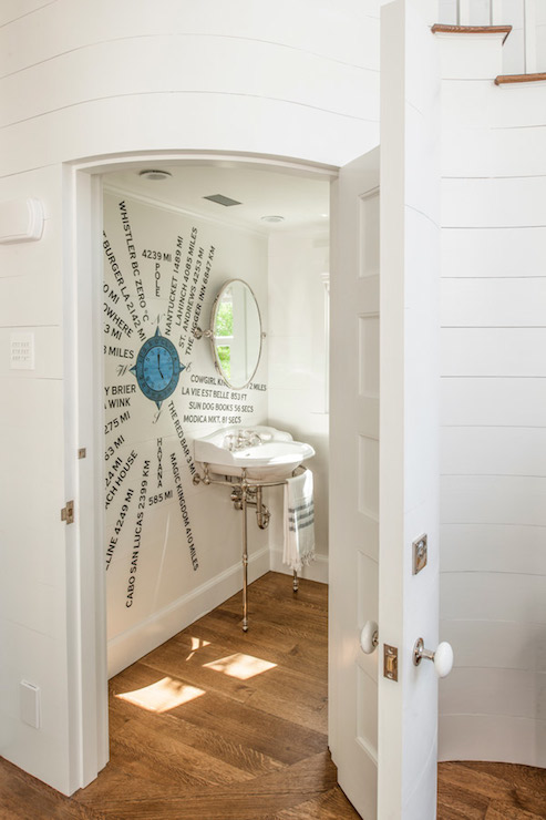 Inside the Seaside Avenue Residence powder room by Curtis & Windham Architects | Photo courtesy Curtis & Windham Architects