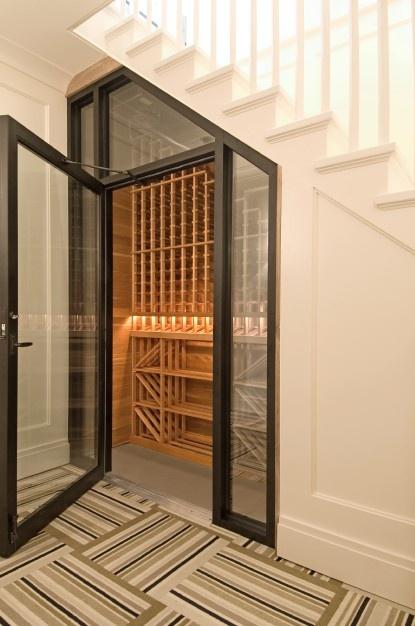 Wine cellar at 55 Mill Lane, East Hampton | Photo courtesy Corcoran Real Estate