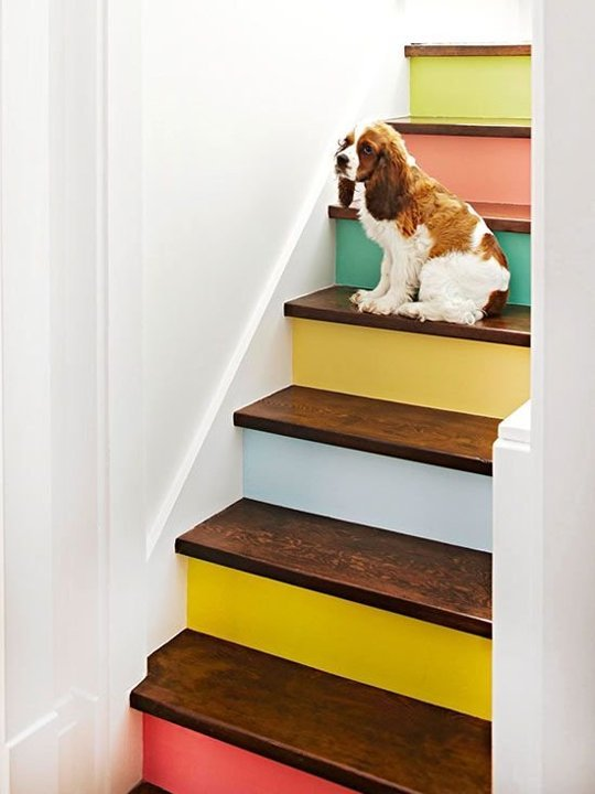 Let your inner rainbow shine. More contrast means better visibility   Via BHG