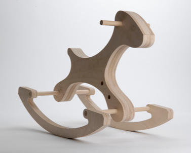 EquusOsian Batyka-Williams - The plasmic form of Batyka-Williams' Equus is just one facet of its sustainable features. FSC plywood profiles laminated together, an all natural, unstained finish, and expandable qualities (extra holes allow for extra foot supports) means Equus might just help your little one give their little ones a planet to play on.Through Bouf Designed Livingwww.OsianBW.com