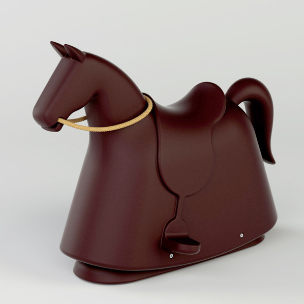 RockyMarc Newson - For Magis Design. Recycled polyethylene becomes a fully dressed jousting horse in Rocky, the pop-art design of prominent designer Marc Newson with one exception, no sharp edges.www.MagisDesign.comThrough Nest.co.uk