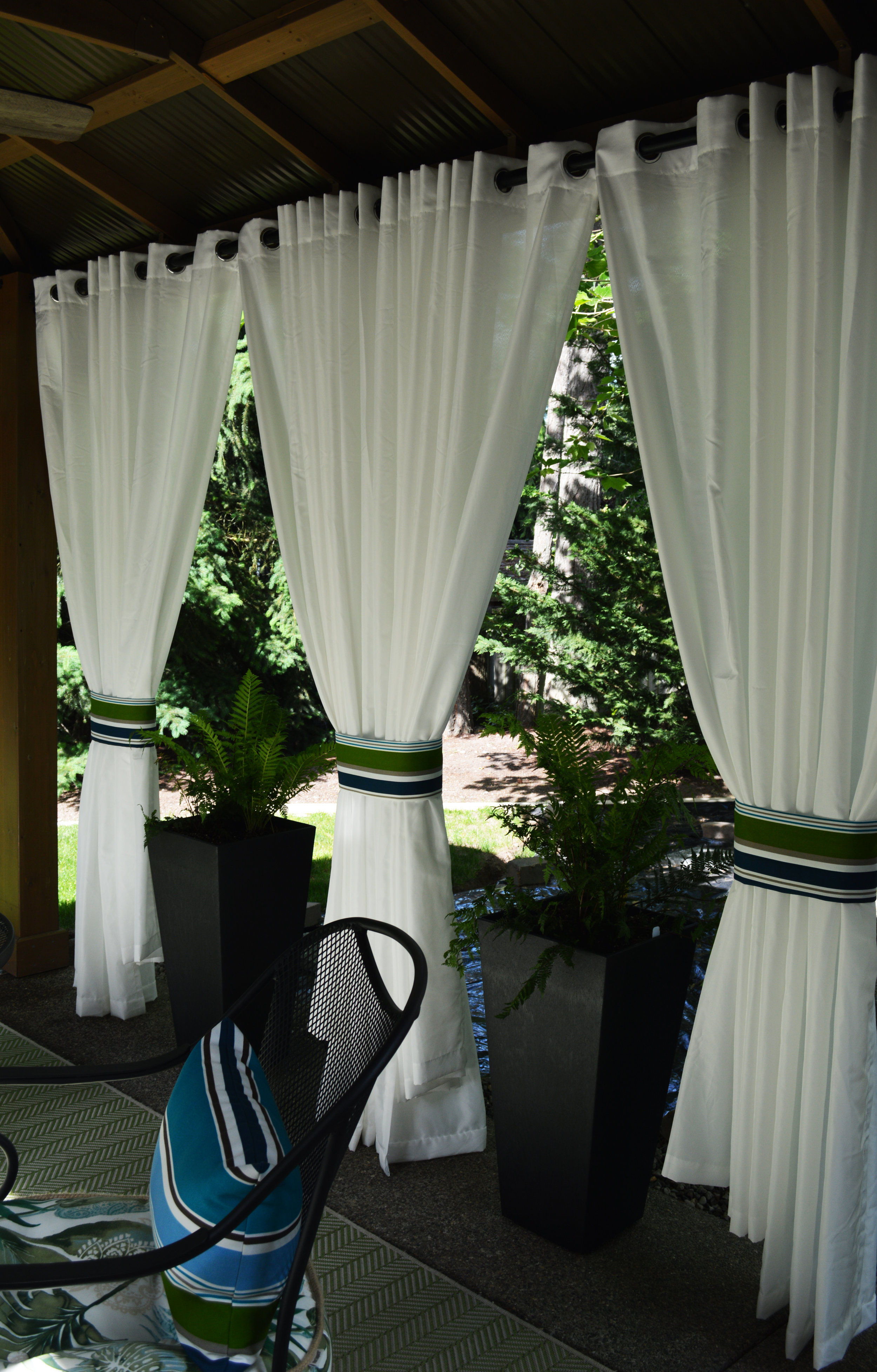 outdoor draperies create privacy and help control the view…