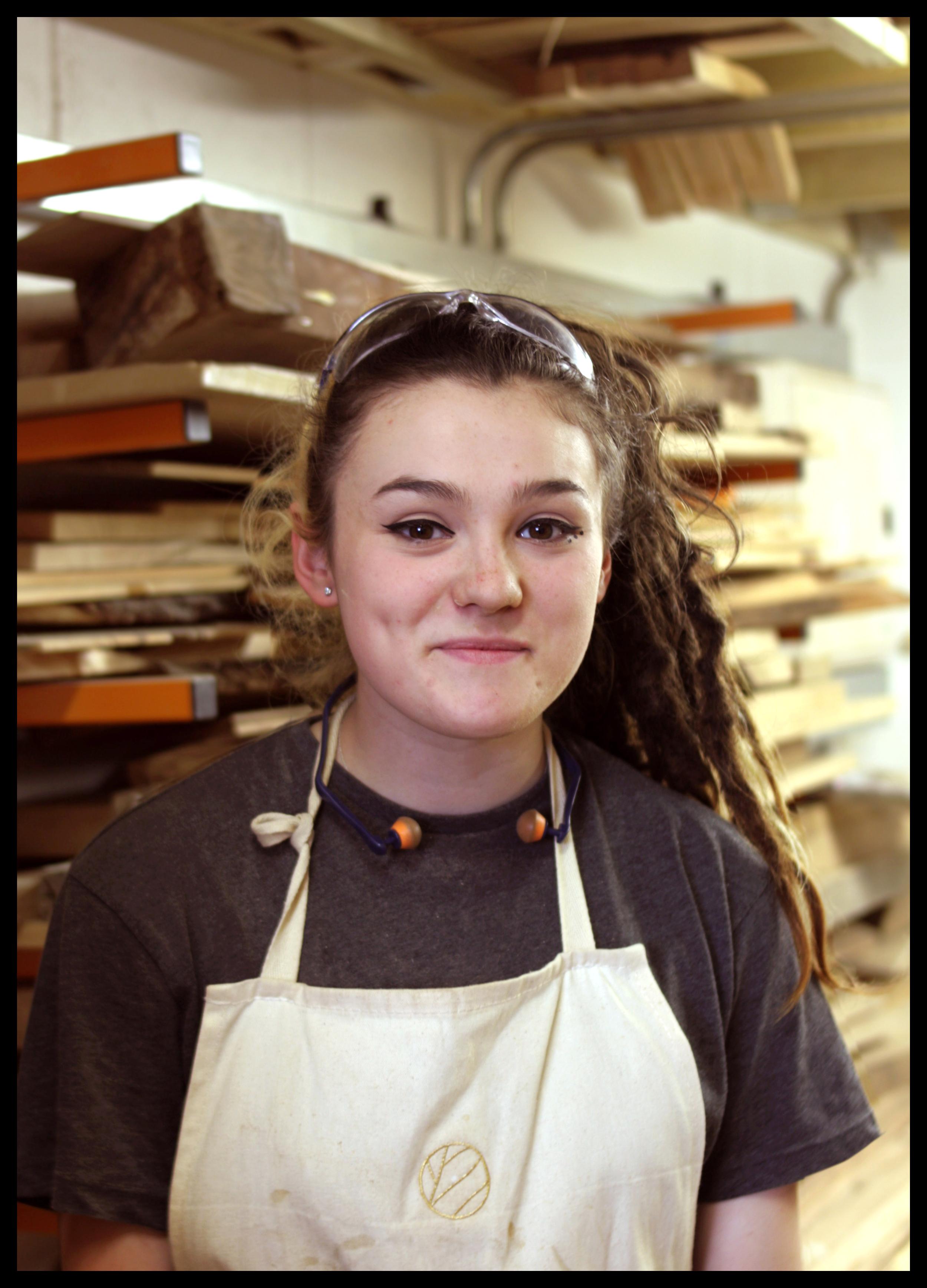 Indira Esser Dunbar - workshop apprentice