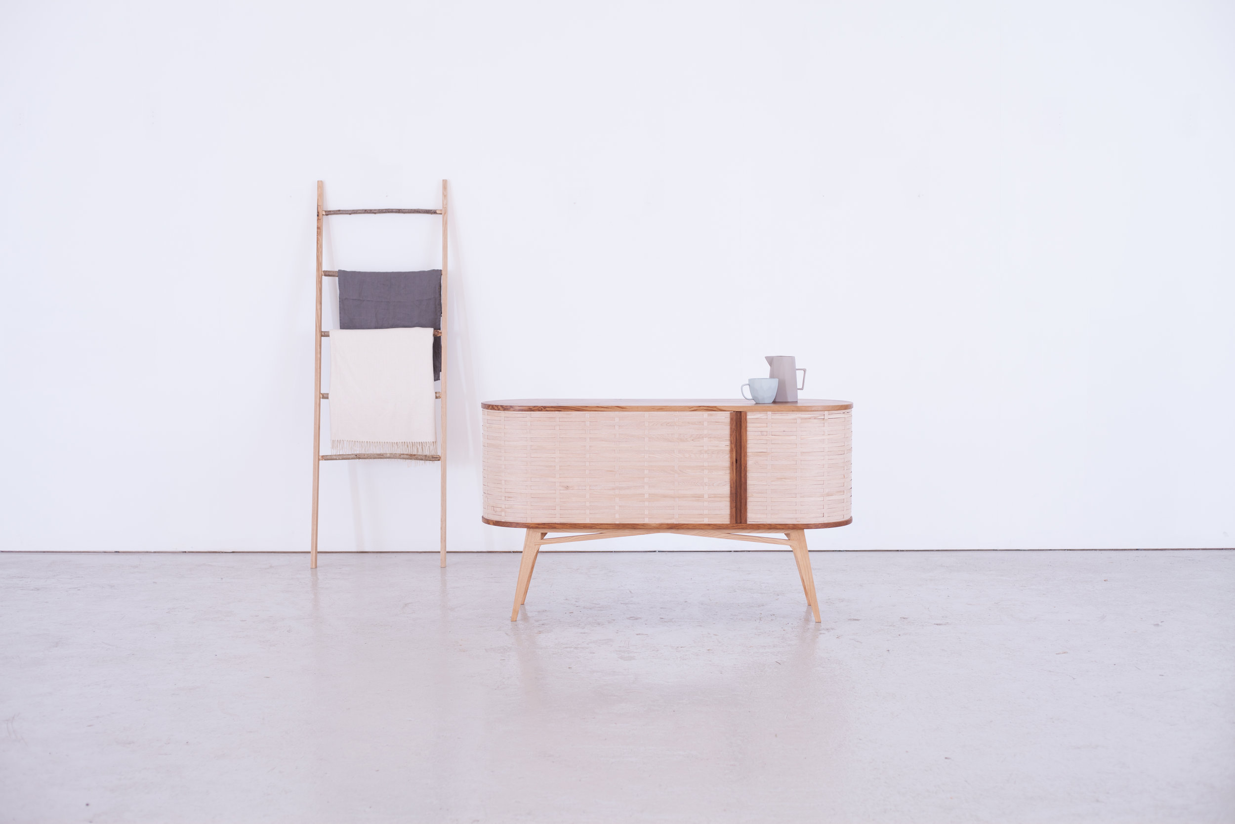 Bayleaf sideboard and Underwood, mopstick ladder.