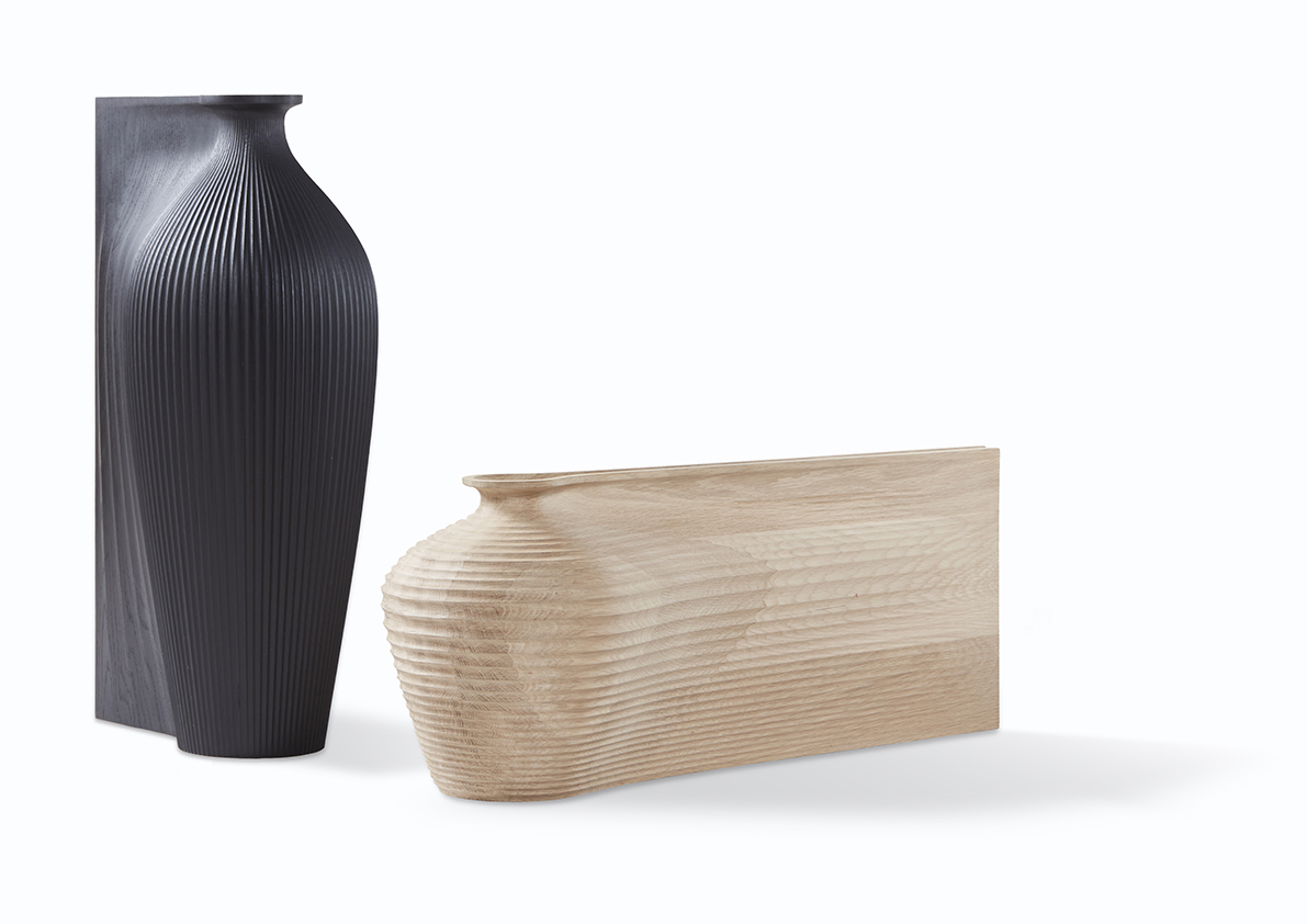 Ves-el by Gareth Neal for Zaha Hadid; created almost entirely through CNC manufacture