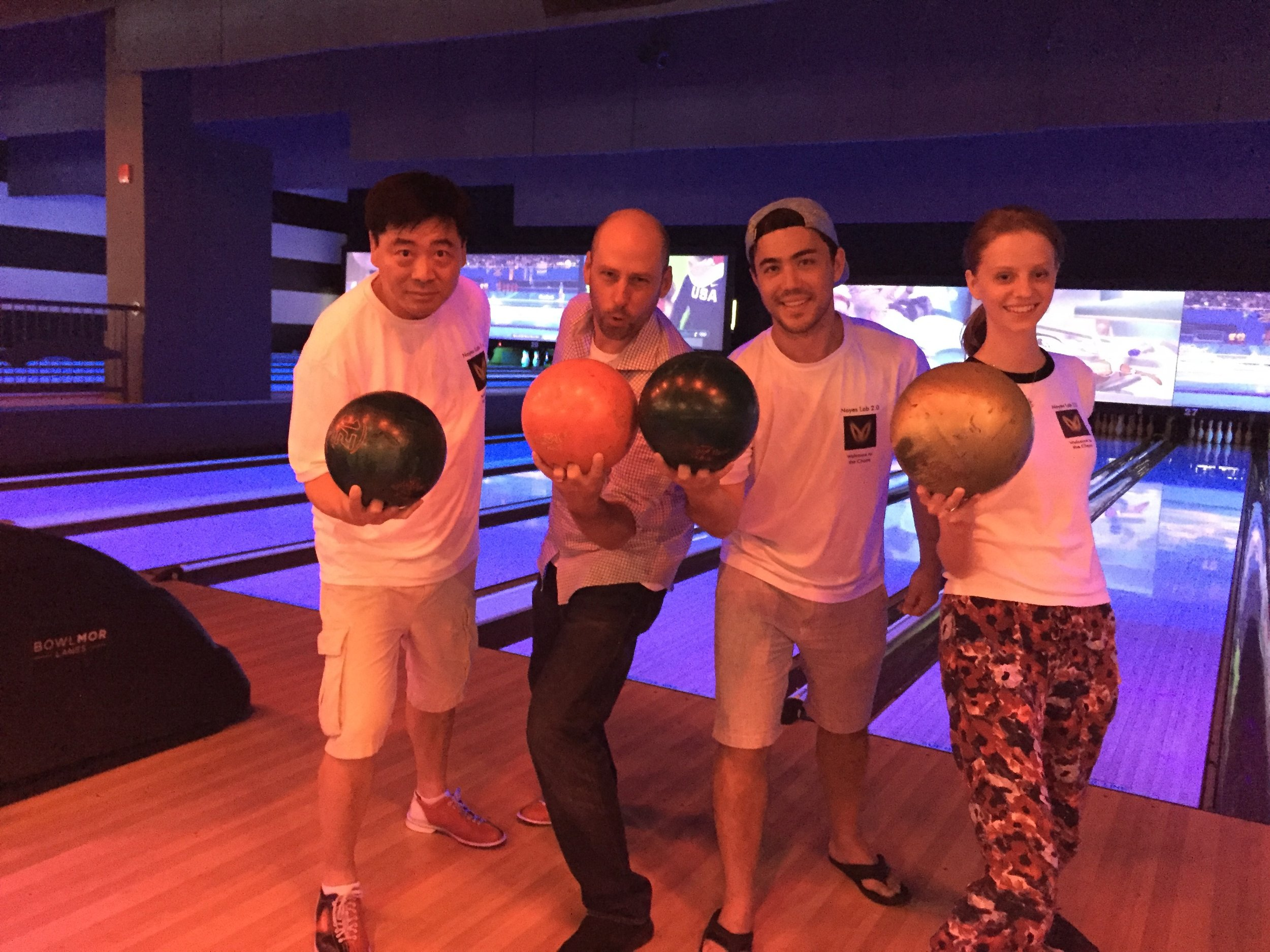 The lab that bowls together never strikes out...