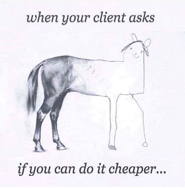 Horses or design. You get what you pay for.