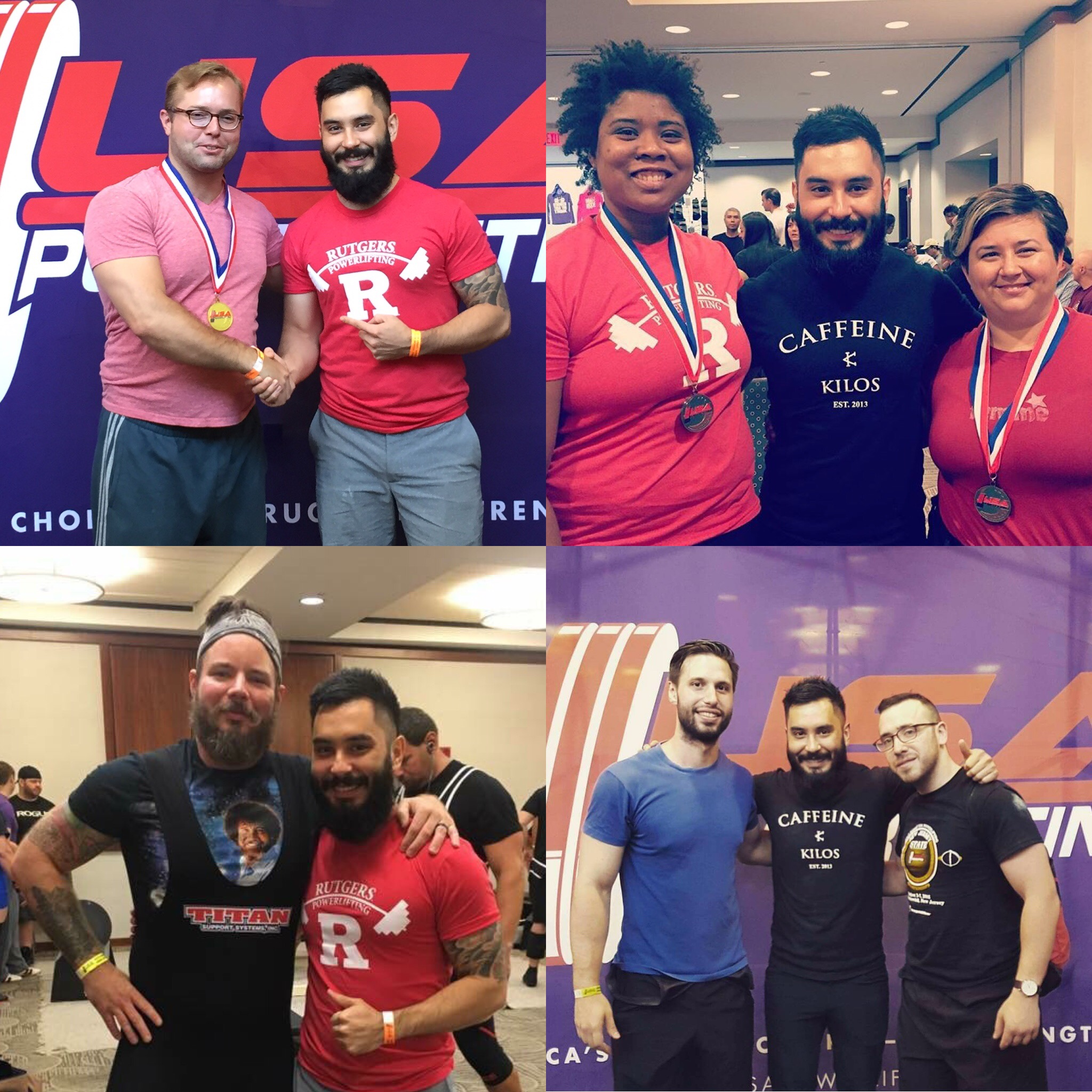 Members of the Murder of Crows Powerlifting Team who competed this weekend!