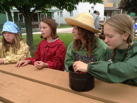Those good old summer days! - We make history come alive!  Come out and learn about pioneer gardening, living, and every day life on the frontier.