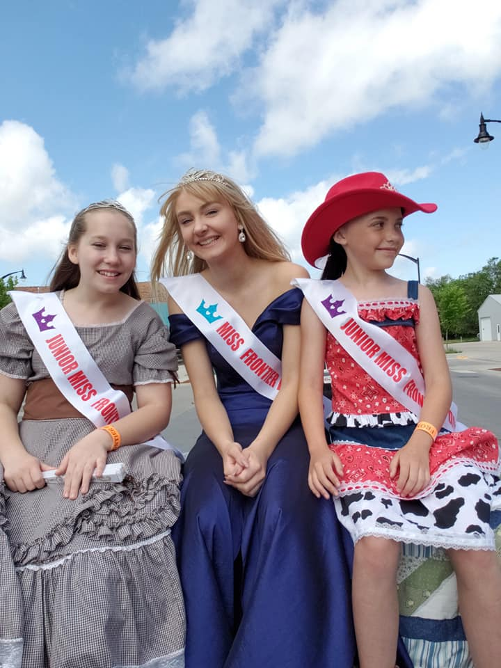 Our Miss Frontier Days 2018, Miss Ona Roe and Junior Miss Frontier Days, Miss Katie Delaney and Miss Zuri Roe -
