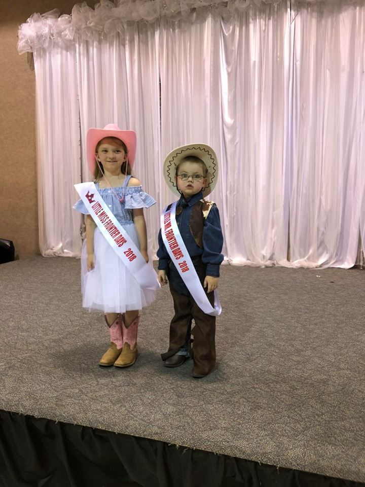 Little Miss and Mister 2018 - Little Miss Frontier Days, Annalise Cobb, age 8 and Little Mister Frontier Days, Jerry Yeager-Zemke, age 4.