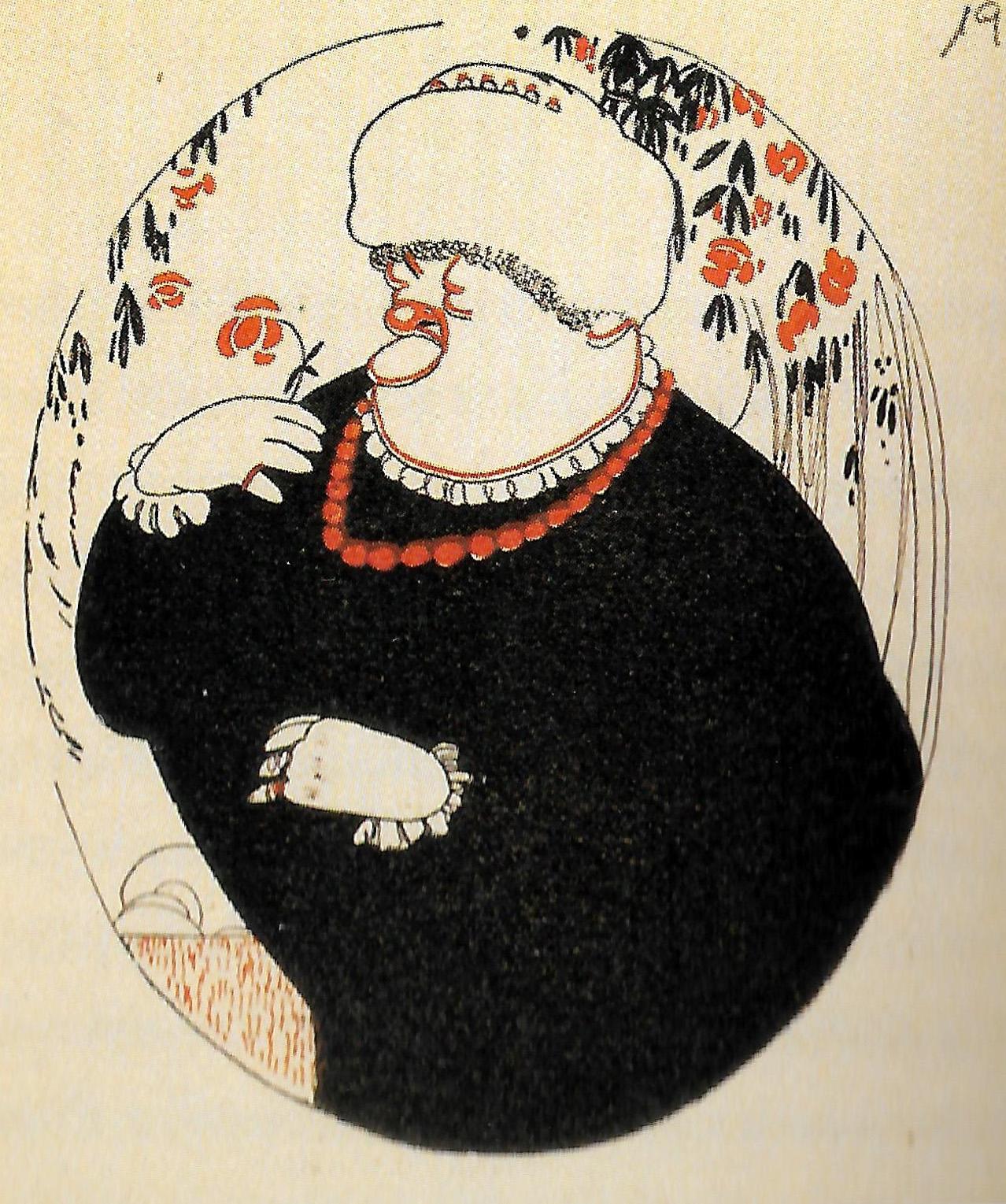 I.Burdiel -Emilia Pardo Bazán, caricatura de Luis Bagaria, ca. 1915 (1).jpg