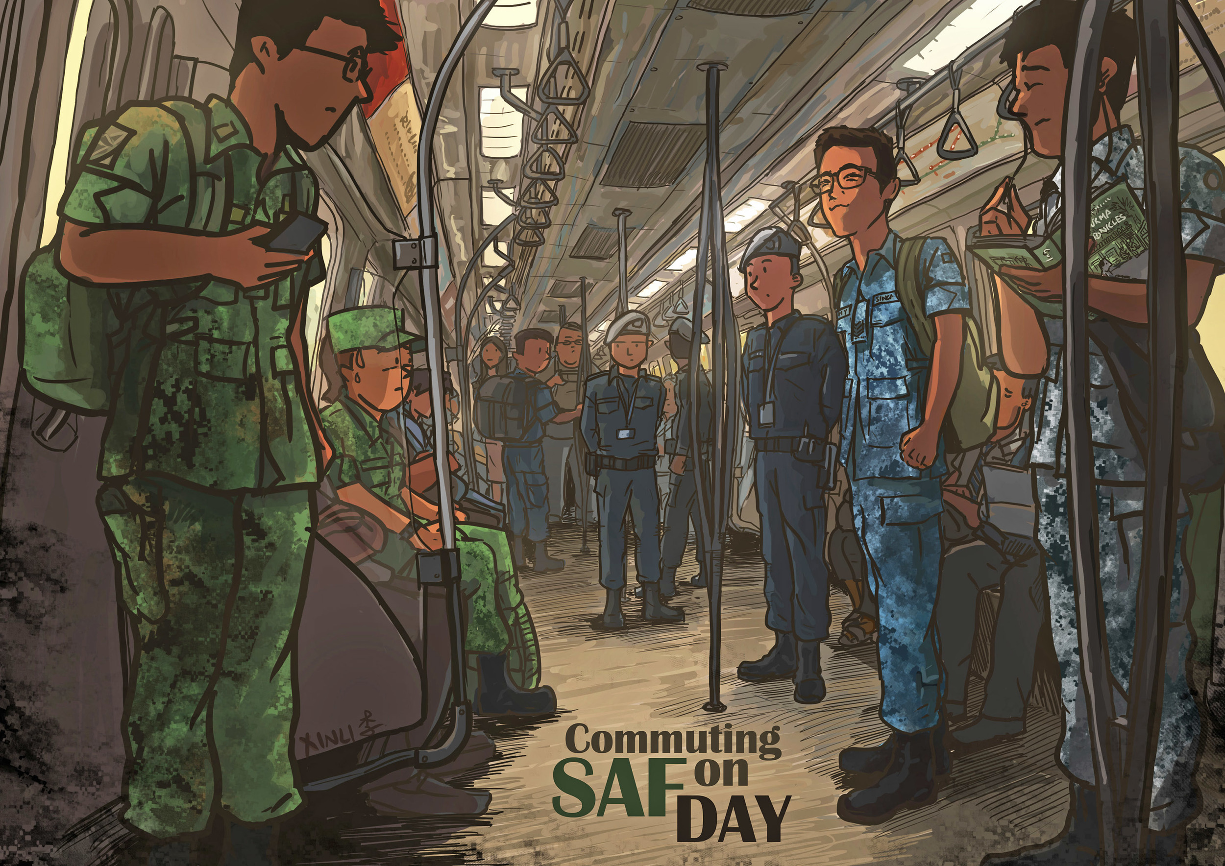 Commuting on SAF Day