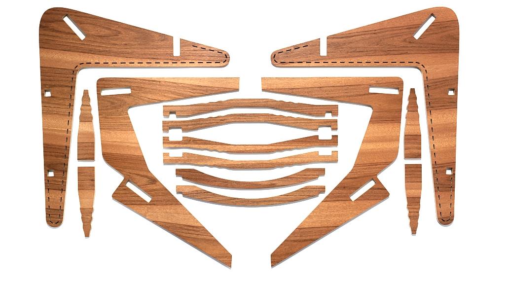Pentagram Flat Pack Chair