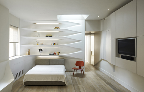 SU11 Shelving and Banquette