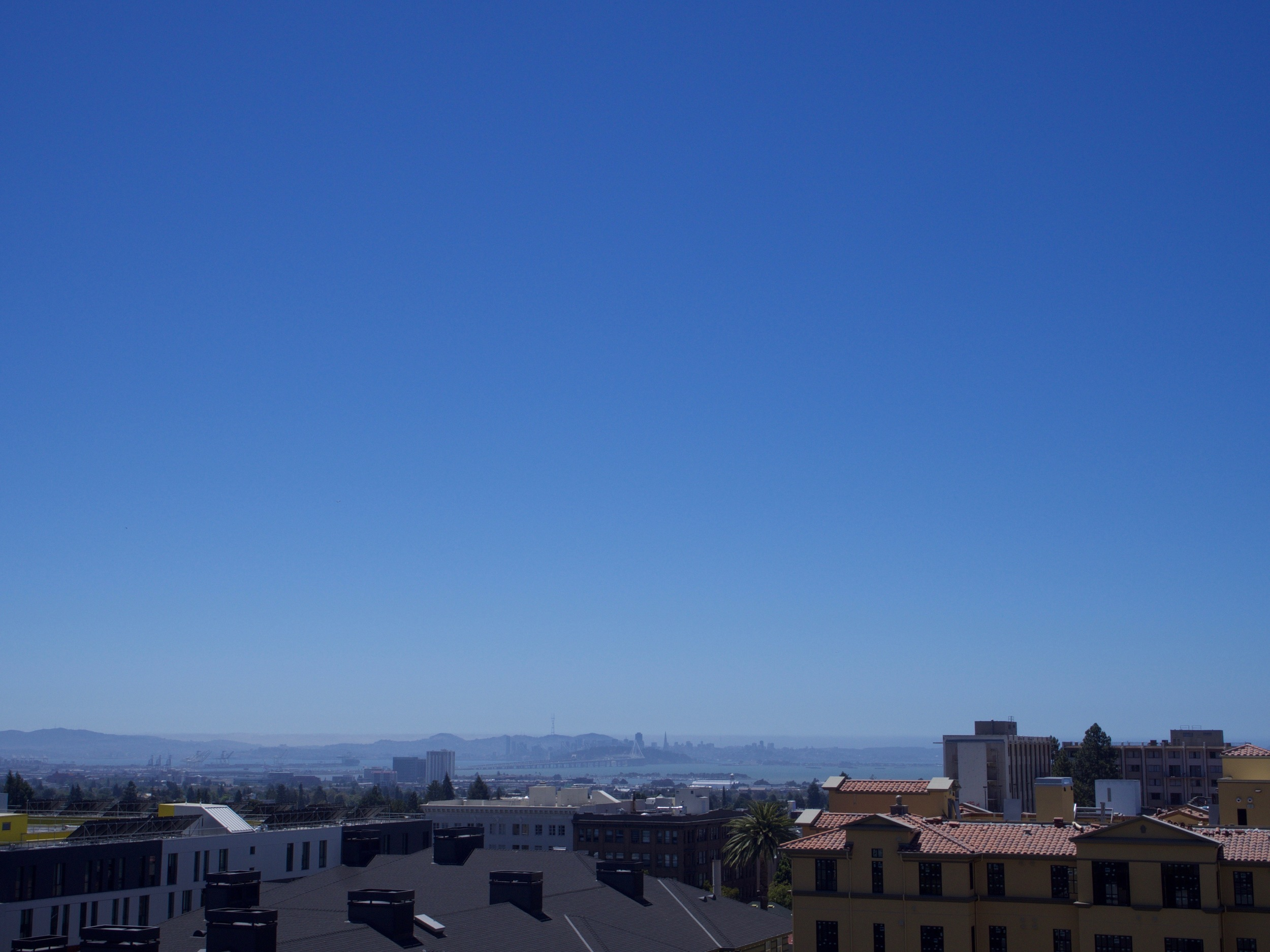 Breathtaking view from the Hotel Durant in Berkeley