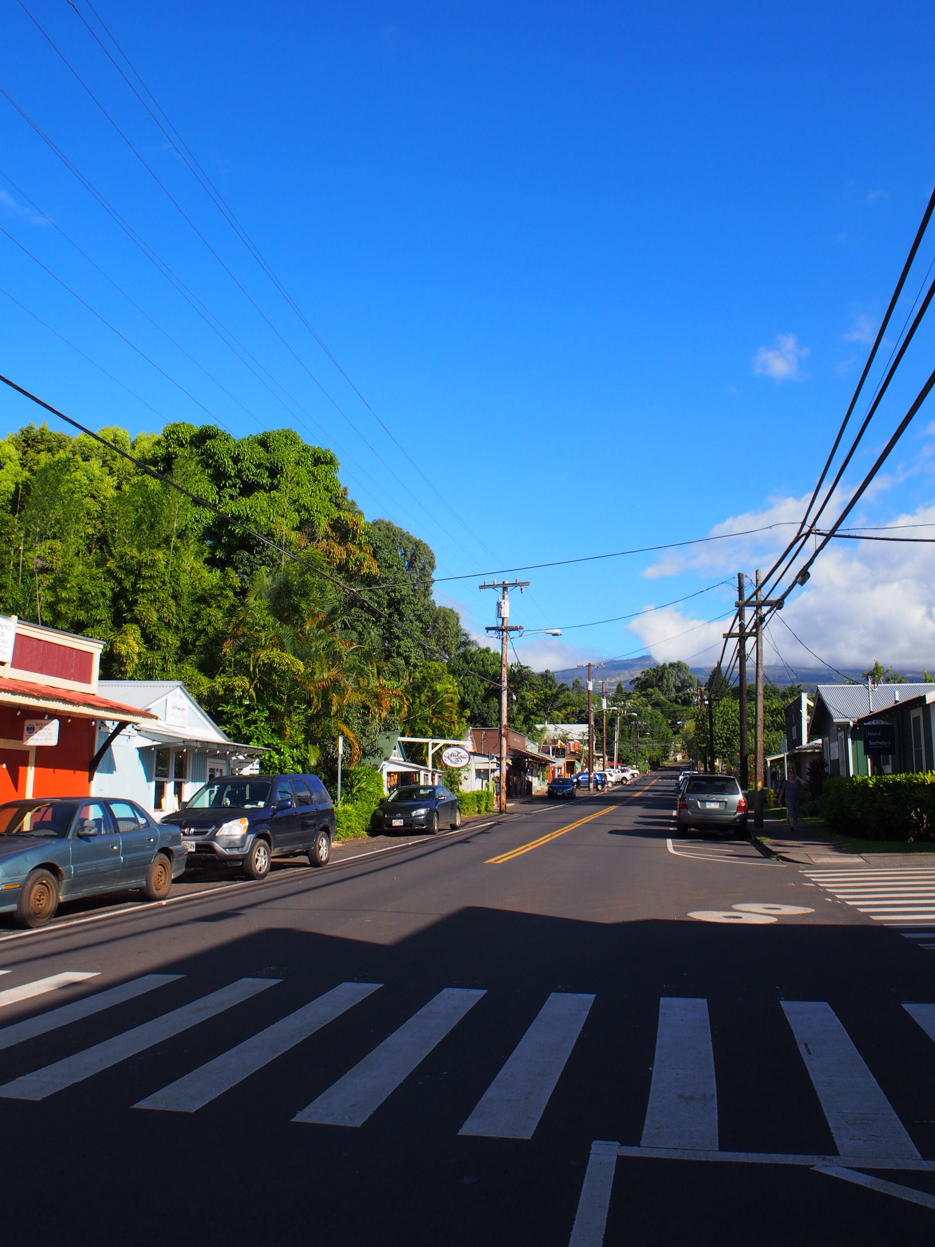 Makawao town along Baldwin Avenue