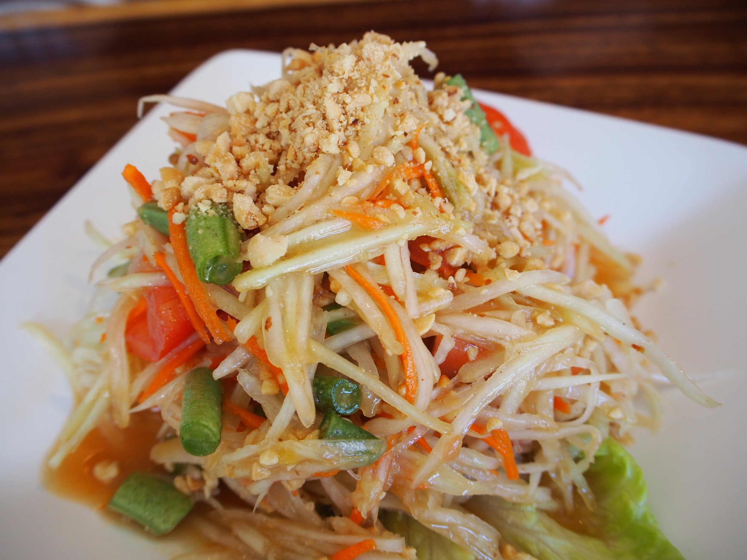 Som Yum or papaya salad at Thai Spice in Pa'ia