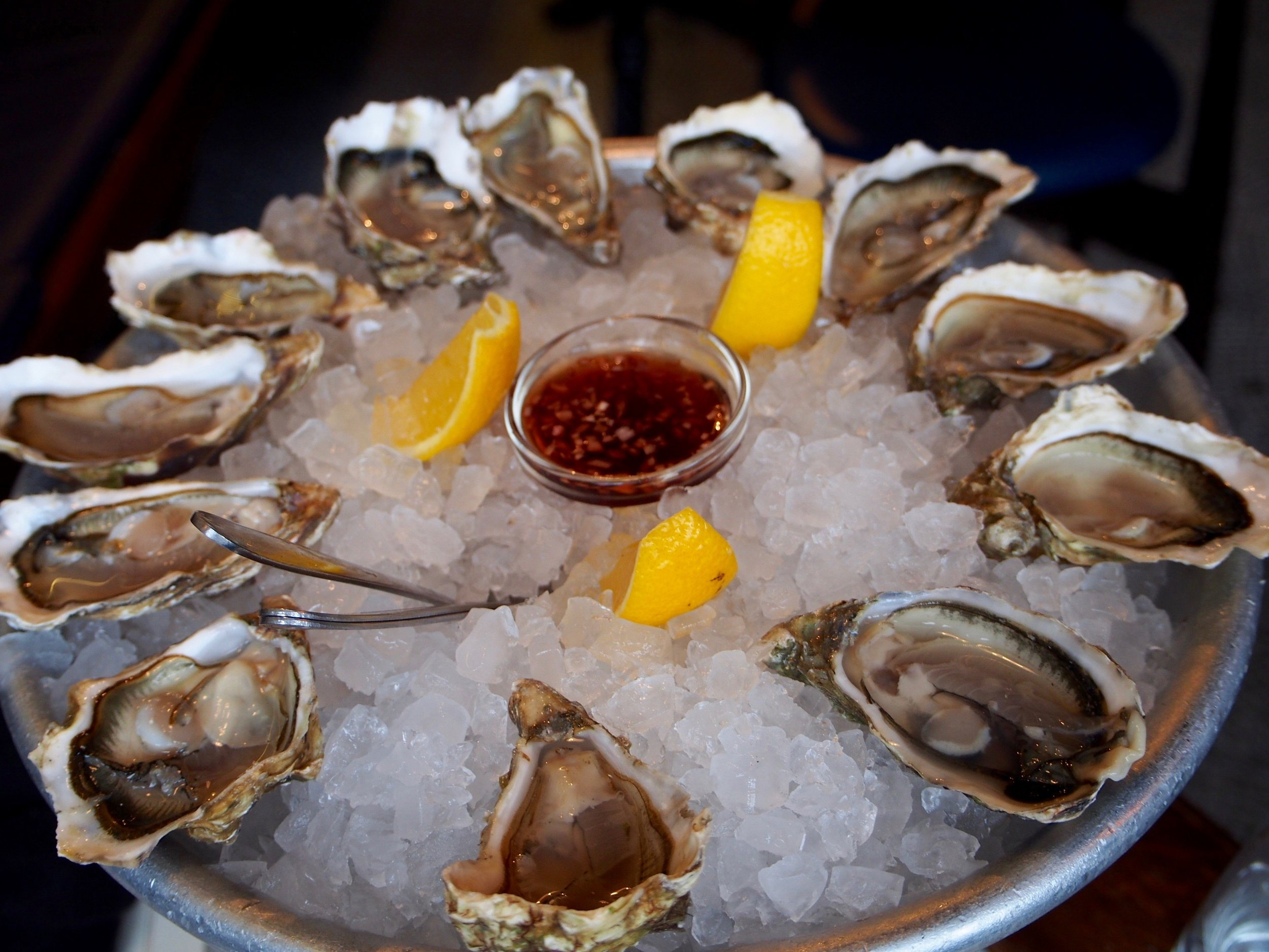 Oysters are always welcomed