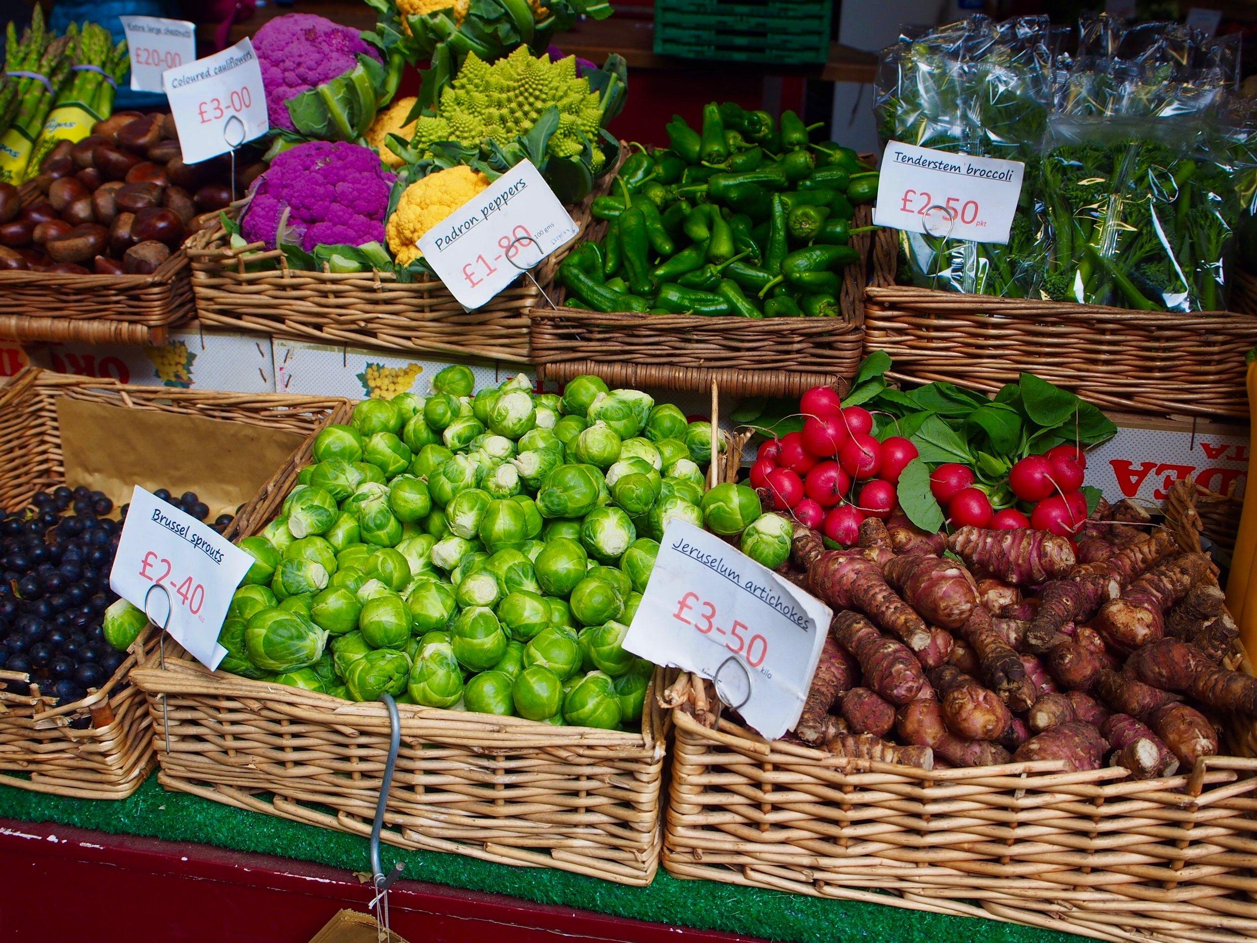Vegetables at Borough Market