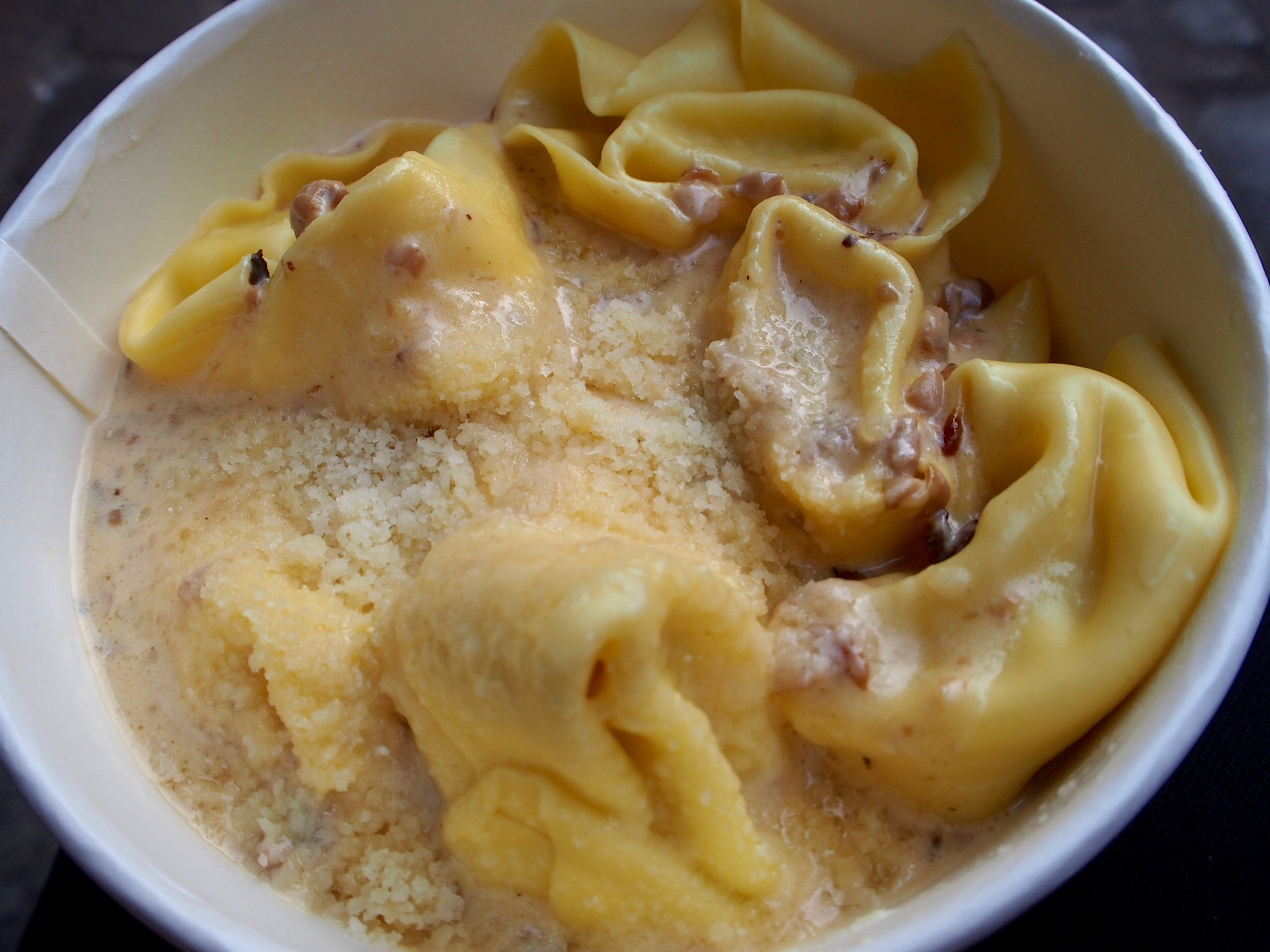 Nothing says autumn quite like truffles. Tortellini with white truffles and a mushroom sauce