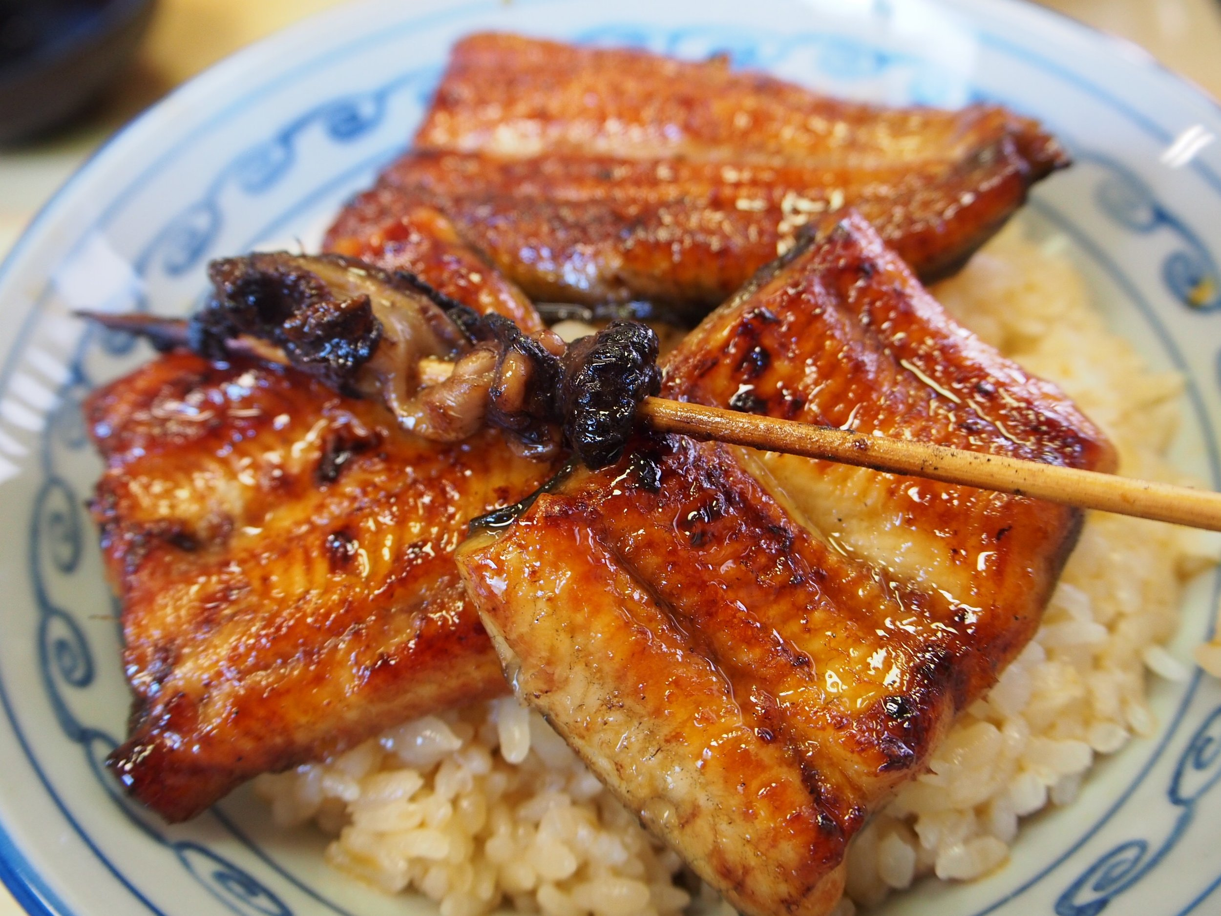 A favorite of mine: grilled freshwater eel over rice