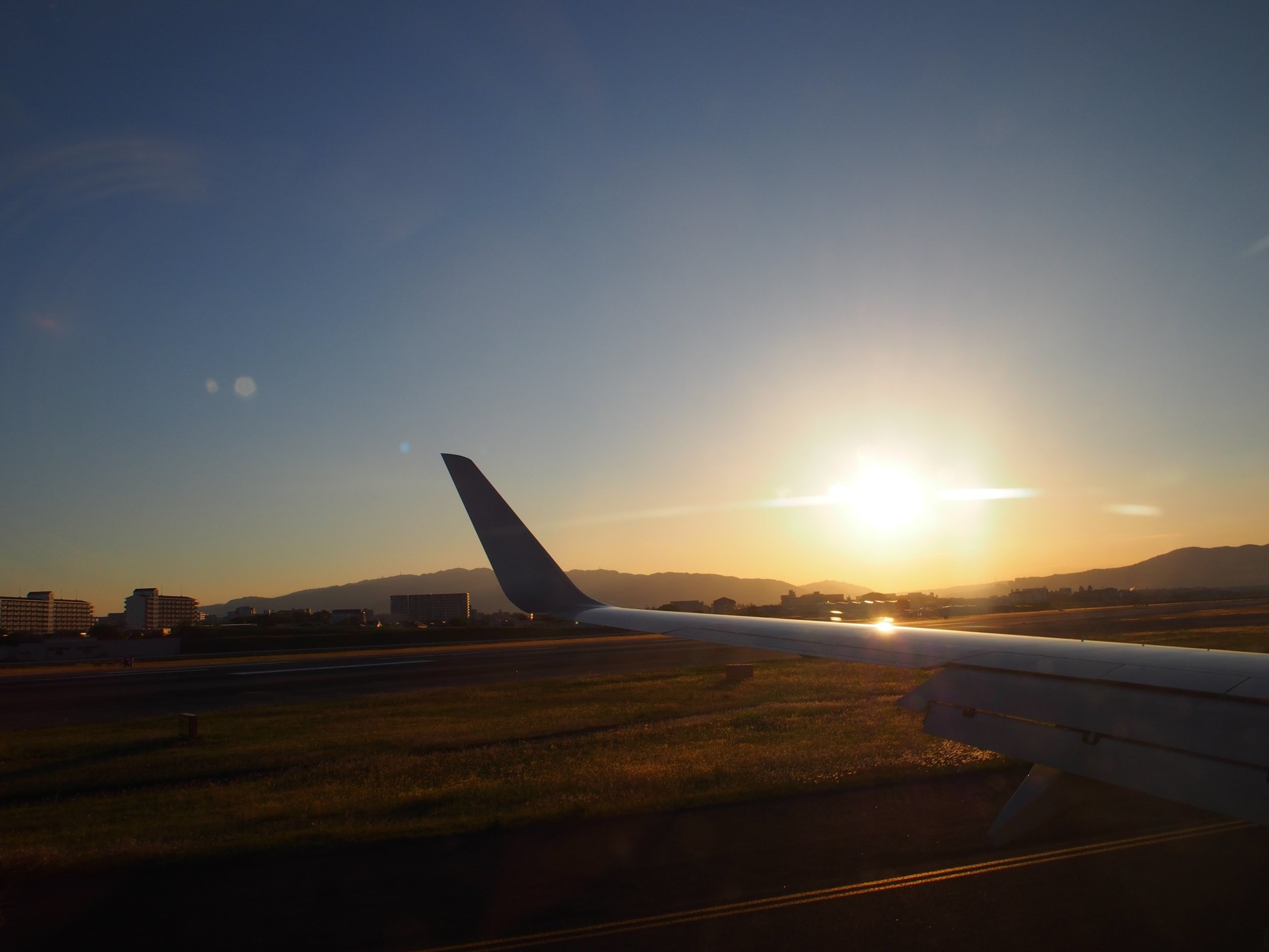 Sunset upon arrival