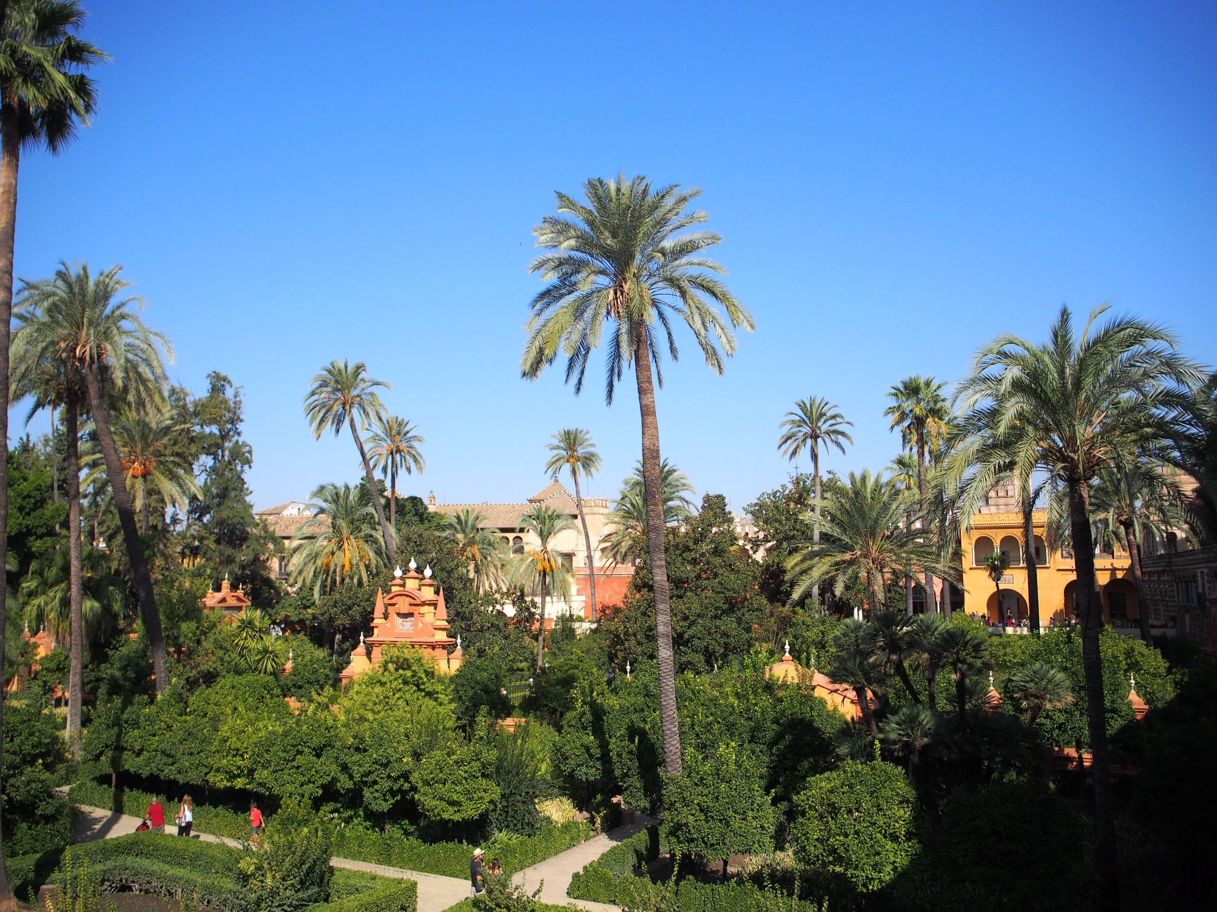 The beautiful ground of the Real Alcázar