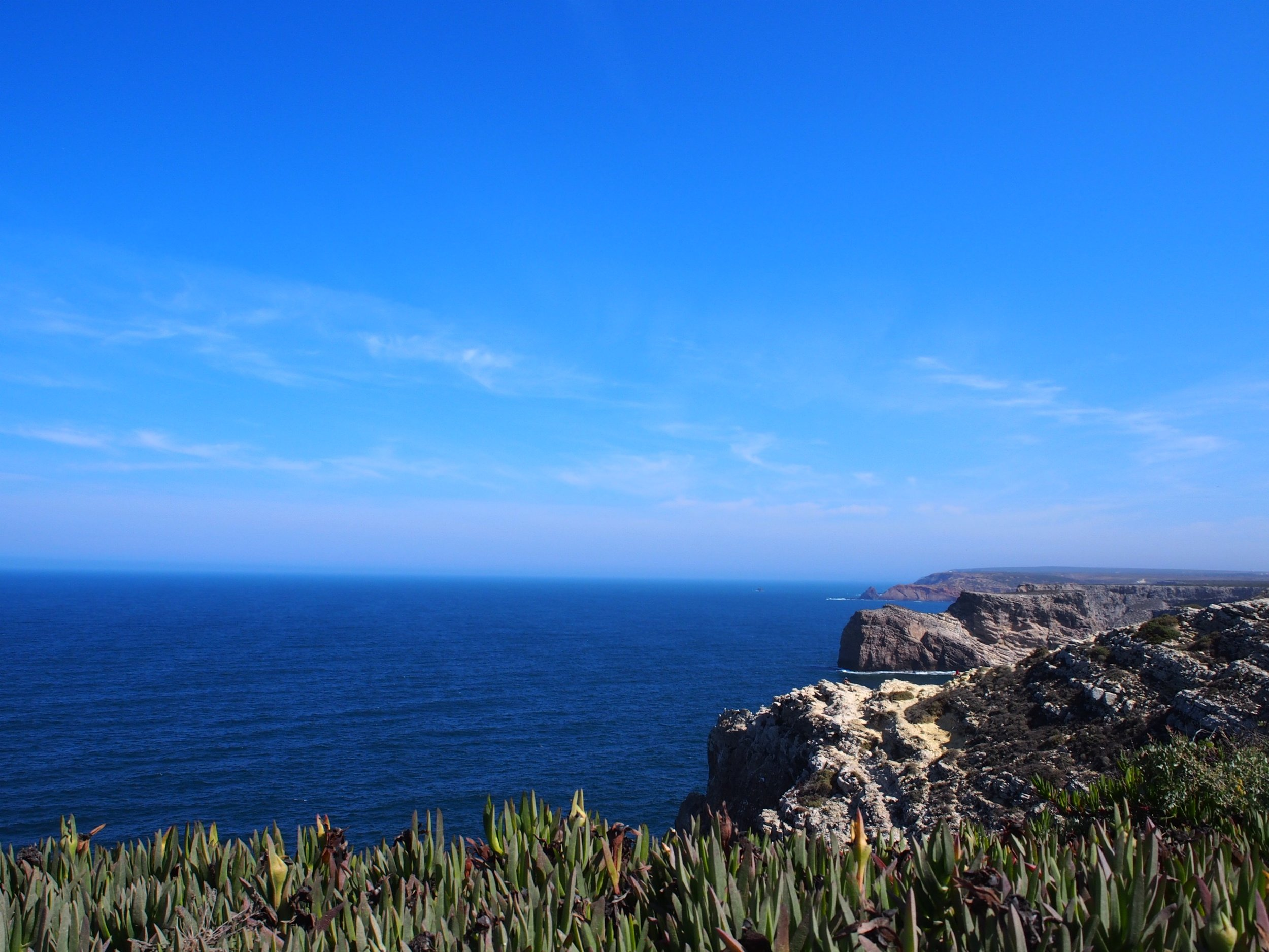 Looking up the coast from Cape Saint-Vincent