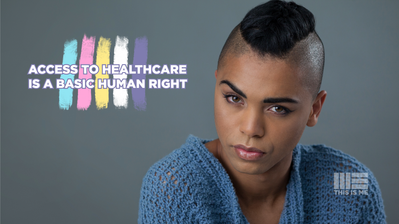 I added purple and yellow to the brand colour scheme, to acknowledge the existing flag for non-binary representation, and it is vitally important to be inclusive (and it's aesthetically beneficial too). I created this simple message to show what the organisation is all about, in a clear, concise and hopefully shareable way.