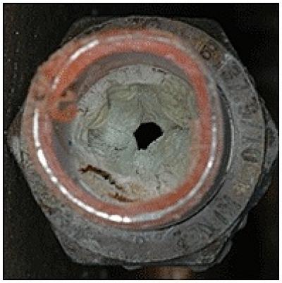 Zinc Buildup Inside PEX Tubing