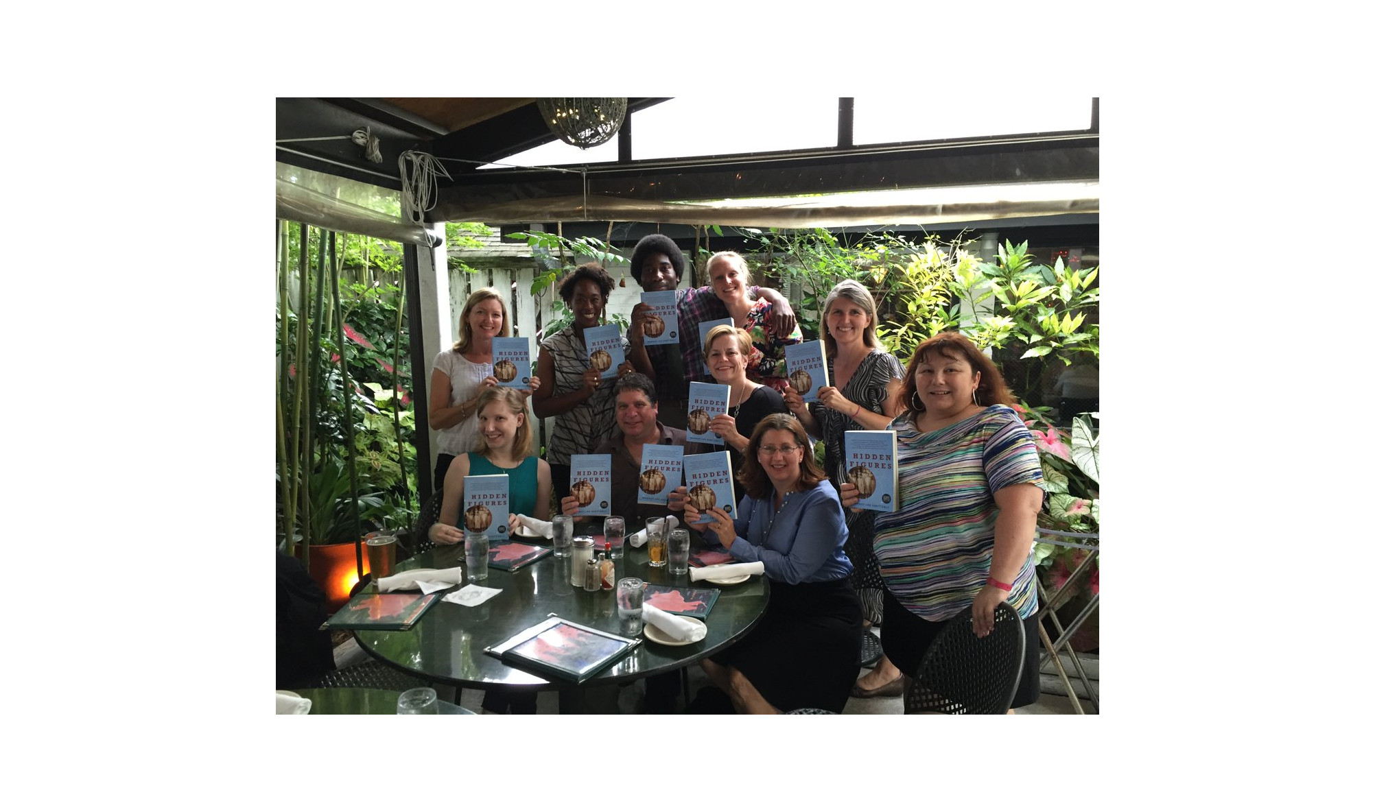 Awesome indie booksellers in north carolina with their hidden figures galleys