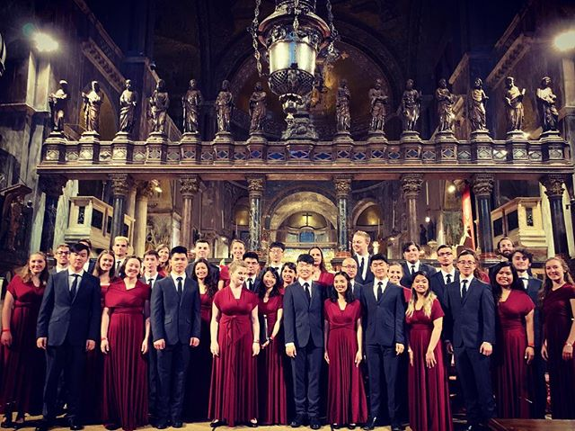 The UBC University Singers tonight at beautiful St. Mark's Cathedral iN Venice, Italy directed by Dr. Graeme Langager. Their 2019 #iNCANTATOCONCERTTOURS experience continues to Tuscany, Umbria, Rome and Vatican City. #makeeuropeyourstage #singinitaly #choirtour #ubcuniversitysingers #veniceitaly #laserenissima #europeinsiders #travelbettertogether #traveltogether #collectingmemories #ubc @universityofbc @ubcuniversitysingers @europeinsiders