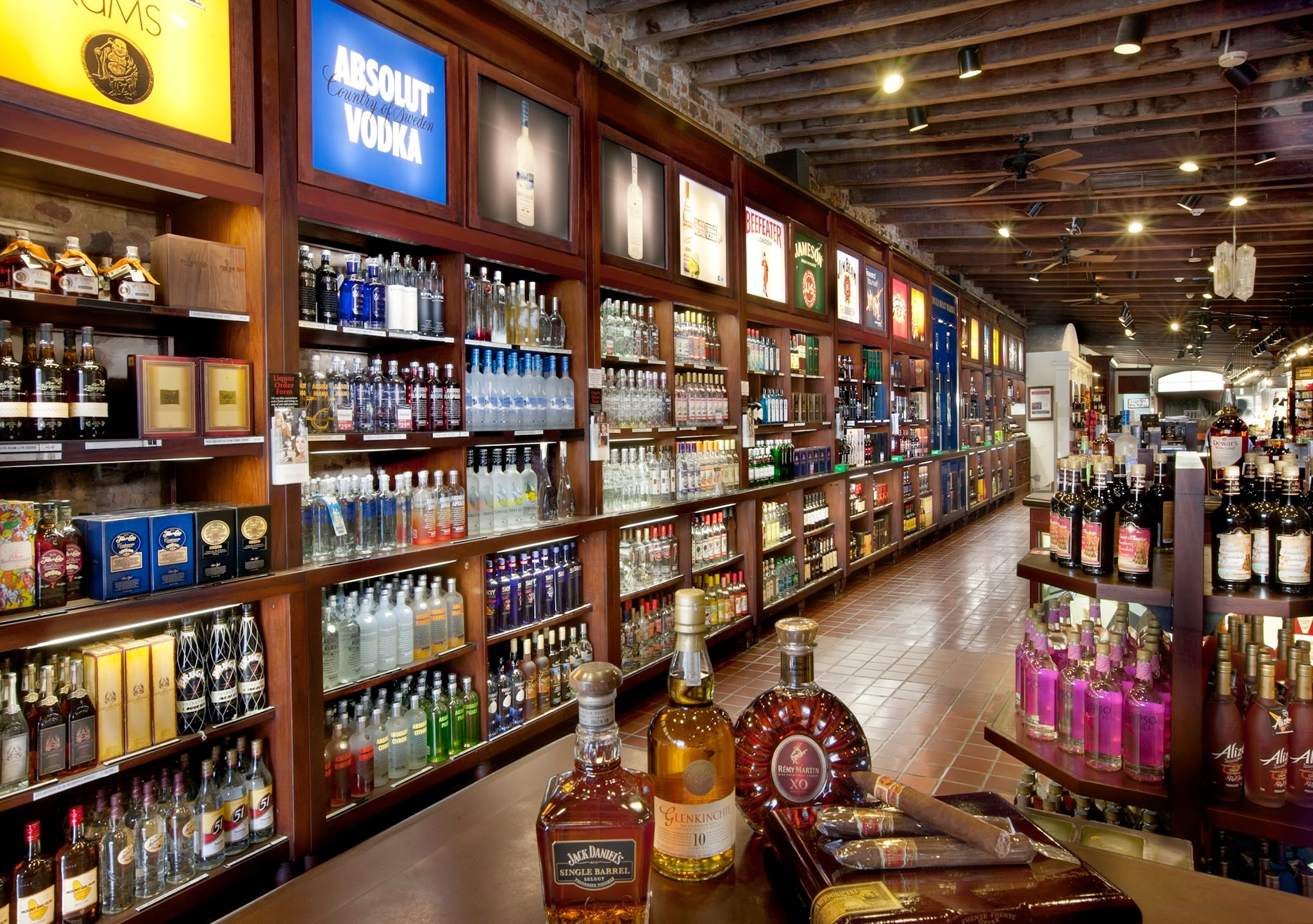 Spirits & Tobacco - Luryx stocks almost every national and international liquor brand, as well as a wide assortment of unique specialty liqueurs and Caribbean rums, all at unbelievable duty-free savings; and there is no sales tax! 340-998-8324