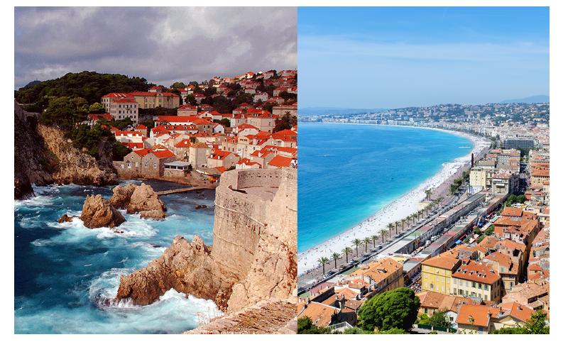 Left: Dubrovnik, Croatia Right: Nice, France
