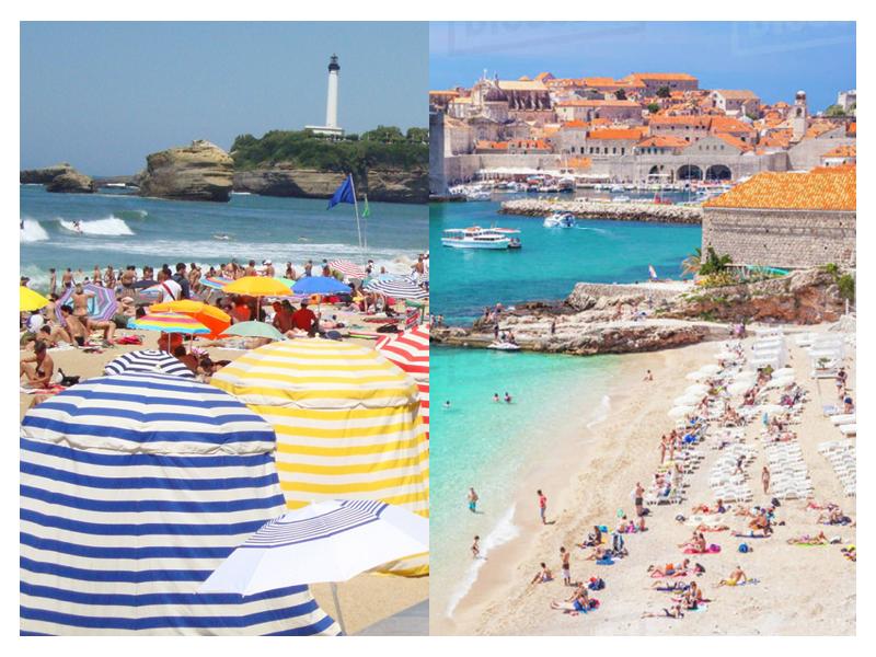 Left: Biarritz Right: Dubrovnik