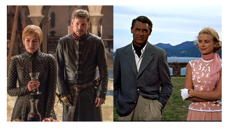 Left: Game of Thrones Right: To Catch a Thief