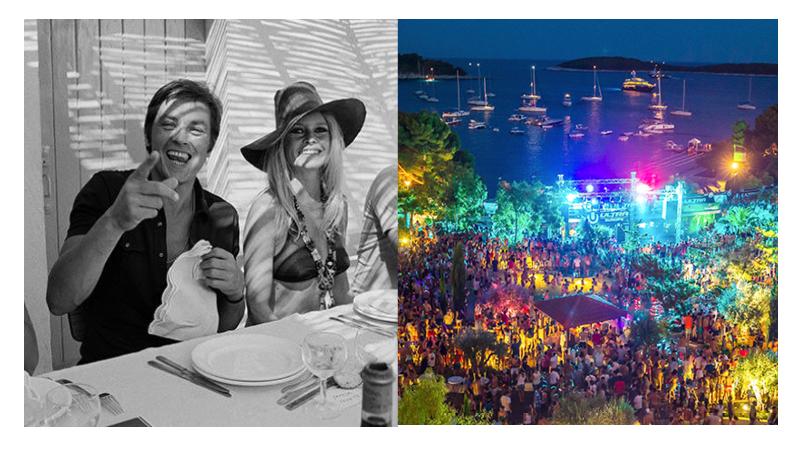Left: Brigitte Bardot Right: The party island of Hvar