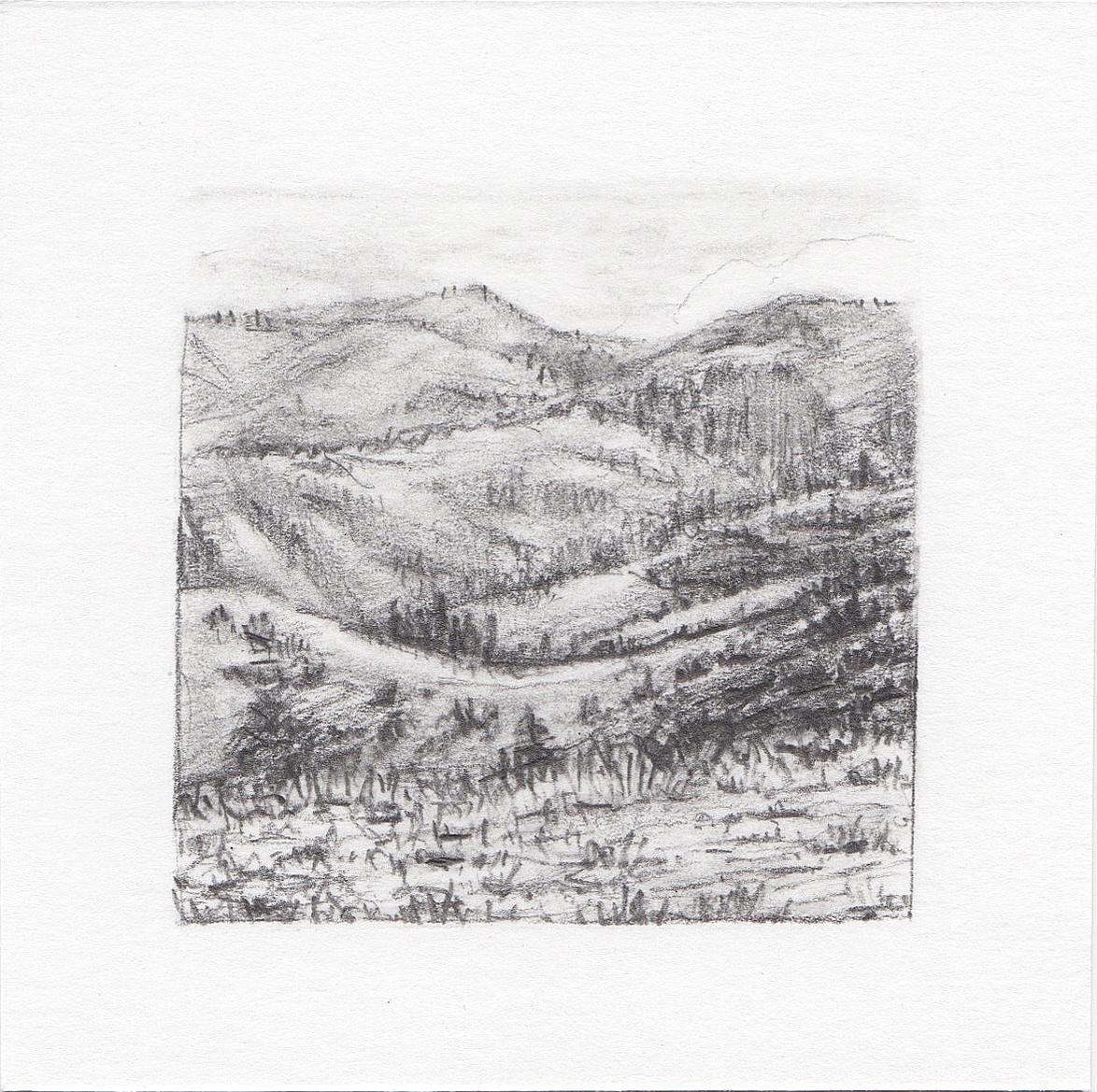 #2 Mount Timpanogos Trail, Utah 3x3 | graphite