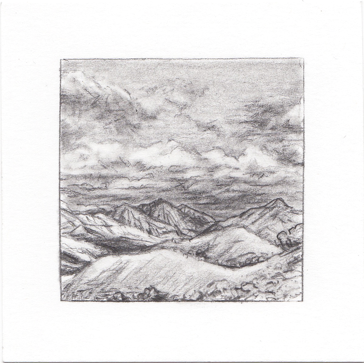 #3 Avenues Twin Peaks, SLC, Utah | 3x3 | graphite