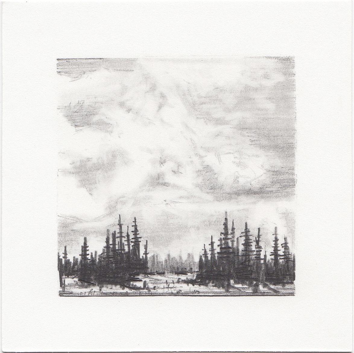 #6 Long Lake, Uinta Mountains, Utah | 3x3 | graphite