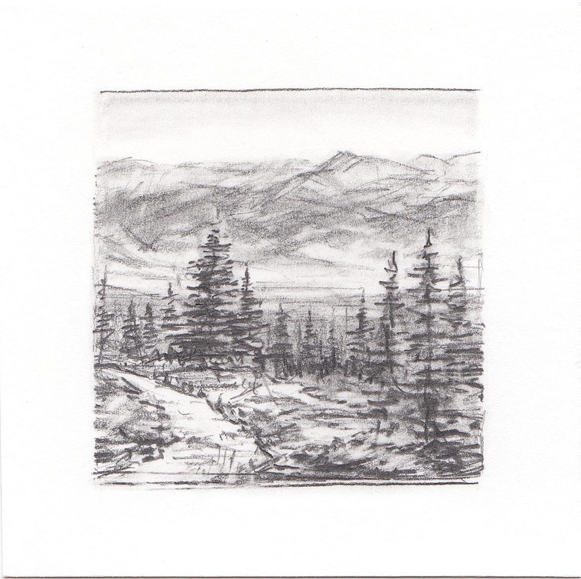#7 Mt. Elbert Trail, Colorado | 3x3 | graphite