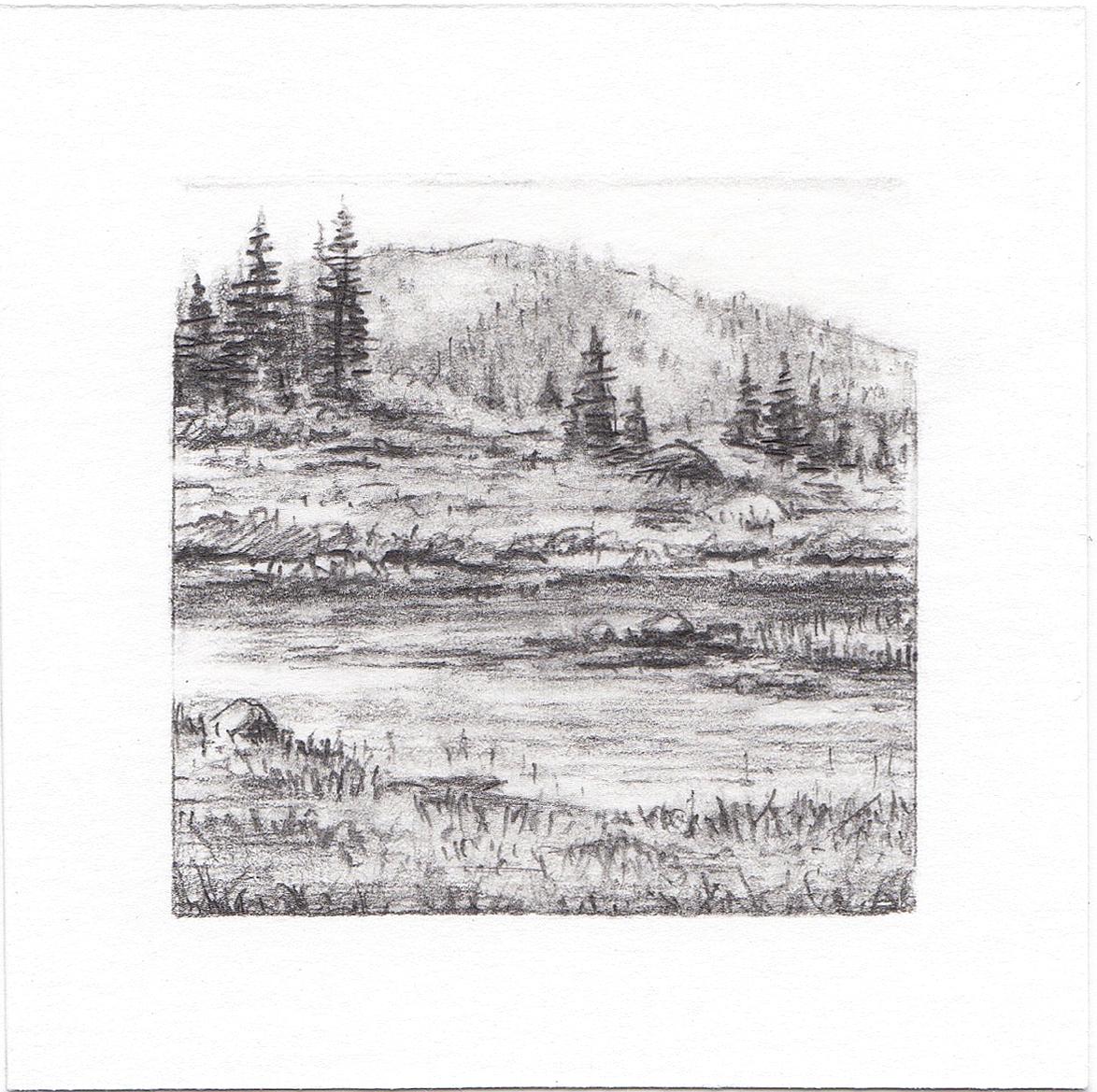 #8 Bloomington Lake, Idaho | 3x3 | graphite