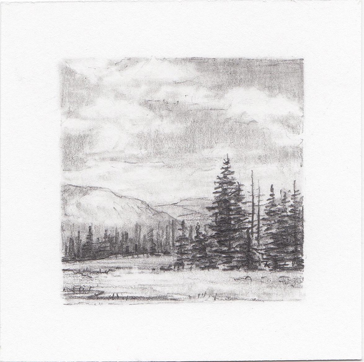 #9 Cuberant Lakes Trail, Uinta Mountains, Utah | 3x3 | graphite