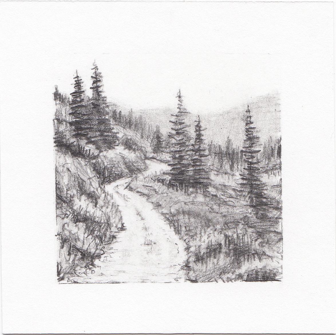 #11 Mill D South Fork, Big Cottonwood Canyon, Utah | 3x3 | graphite