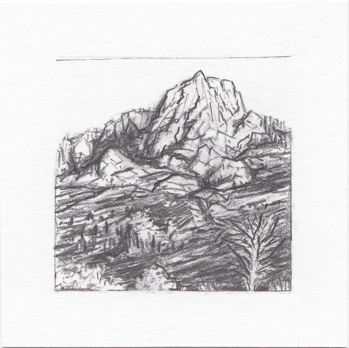 #13 Lone Peak Trail, Wasatch Mountains, Utah | 3x3 | graphite