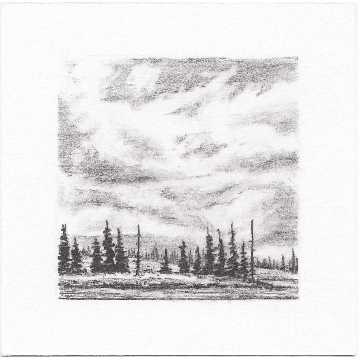 #18 Long Lake, Uinta Mountains, Utah | 3x3 | graphite