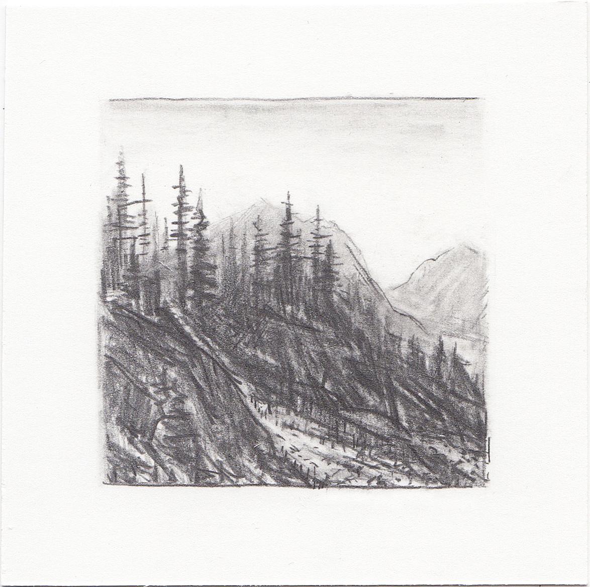 #20 Catherine's Pass, Albian Basin, Utah | 3x3 | graphite