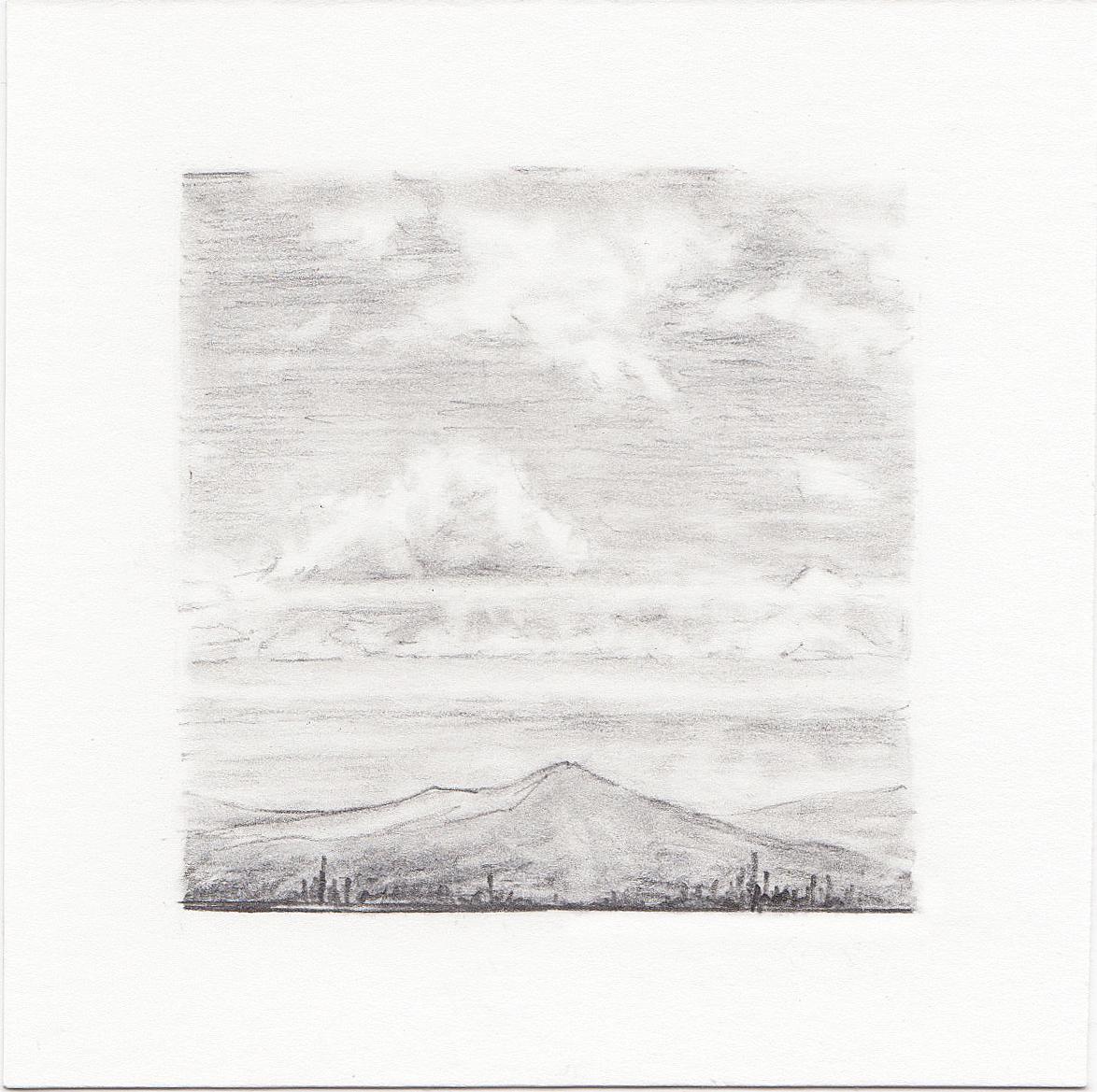 #22 Bonneville Shoreline Trail, Salt Lake City,Utah | 3x3 | graphite